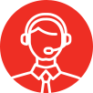 Customer service representative with headset icon